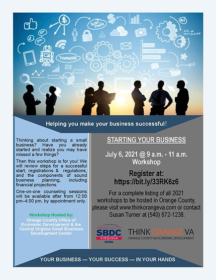 Workshop - Starting Your Business - 7.6.