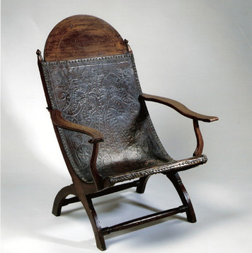 James Madison's reading chair. Made in Campeche, Mexico, he received it in 1820.