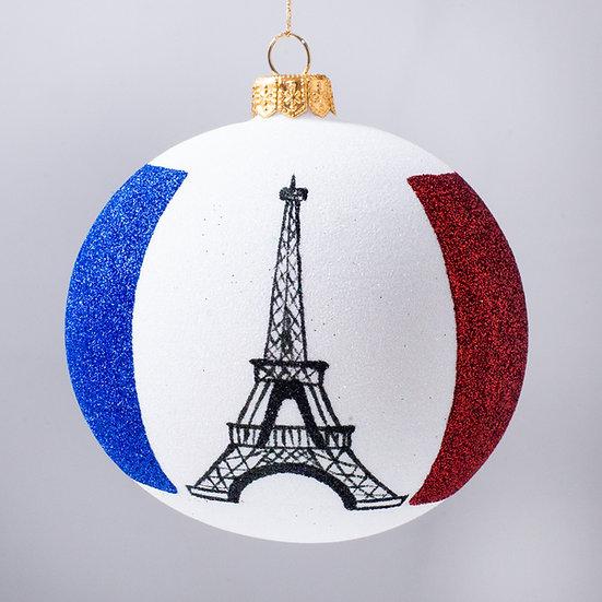 "#2152 - Thomas Glenn ""La France"" Ball Christmas Ornament"