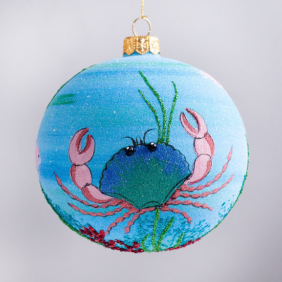 "#2140 - Thomas Glenn ""Under The Sea"" Ball Christmas Ornament"