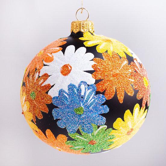 "#2183 - Thomas Glenn ""Japanese Boquet"" Ball Christmas Ornament"