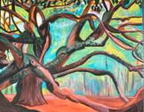 Stacy Gerise, Angel Oak, 16x20, Acrylic, $350