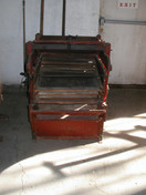 Seed Cleaner. Circa late 1800. Made by Johnson & Field Mfg. Co.; hand operated.