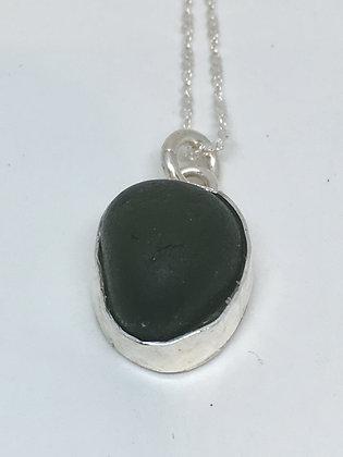 Dark Wonder Seaglass Pendant