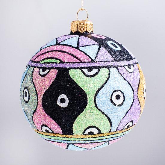"#2134 - Thomas Glenn ""Savvy"" Ball Christmas Ornament"