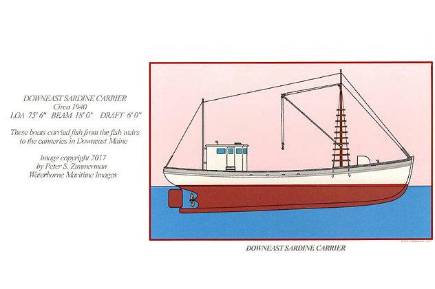 Downeast Sardine Carrier Card by Artisan Peter Zimmerman