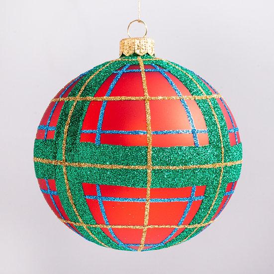 "#2125 - Thomas Glenn ""Tartan"" Ball Christmas Ornament"