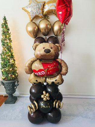 XOXO Bear Balloon Sculpture