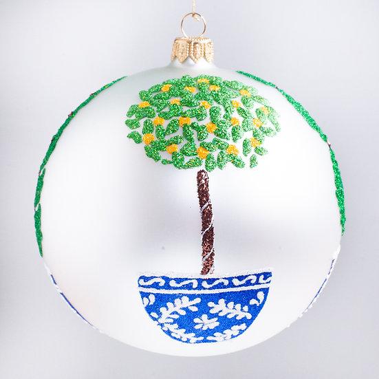 "#2141 - Thomas Glenn ""Topiaries"" Ball Christmas Ornament"