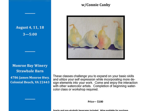 August Watercolor Wednesdays (3 Classes)