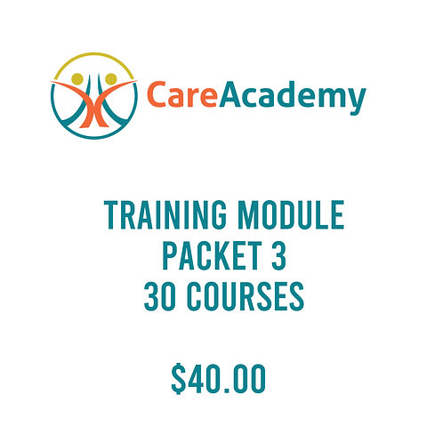 Training Module, Packet 3 - 30 Courses