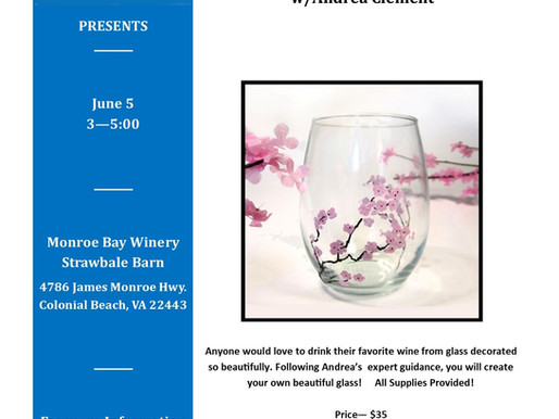 A Brush with Wine/Cherry Blossoms, June 5, 2021