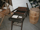 Butter Press, Eureka. Circa 1870-1880. Made of maple, pine and a yet identified wood.