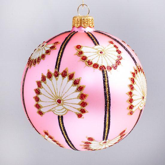"#1626PK - Thomas Glenn ""Lotus - Pink"" Ball Christmas Ornament"