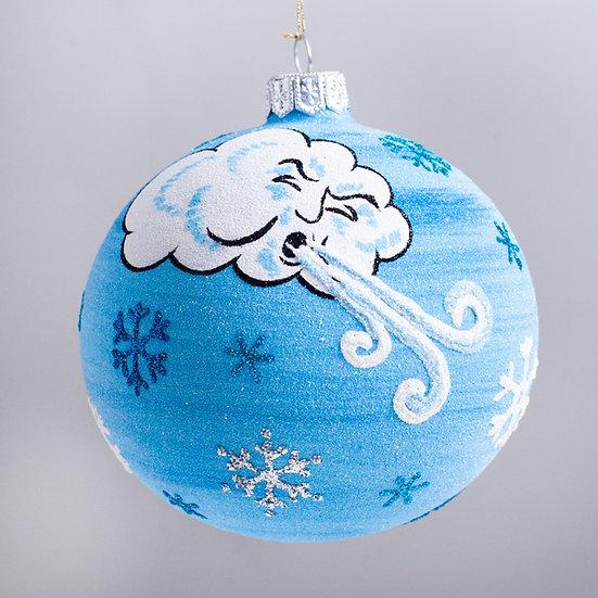 "#2116 - Thomas Glenn ""Ol' Man Winter"" Ball Christmas Ornament"