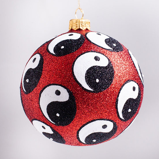 "#2186 - Thomas Glenn ""Yin Yang"" Ball Christmas Ornament"