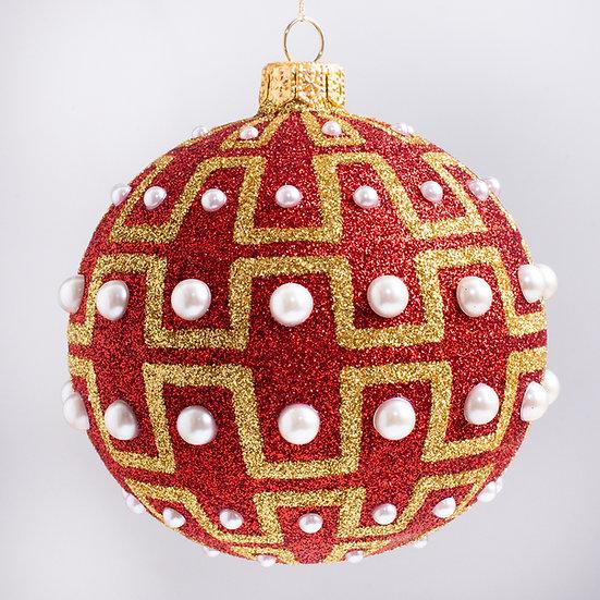 """#1739R - Thomas Glenn """"Empowerment - Red"""" Ball Christmas Ornament"""