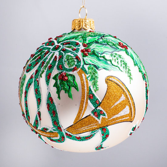 "#2136 - Thomas Glenn ""Blow Your Own Horn"" Ball Christmas Ornament"