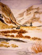 Silverton Snow Scene - Watercolor