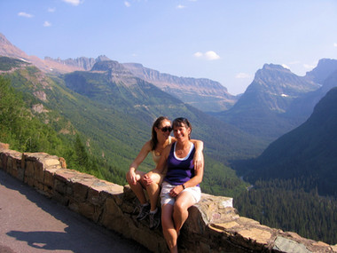 With My Daughter in Glacier National Park