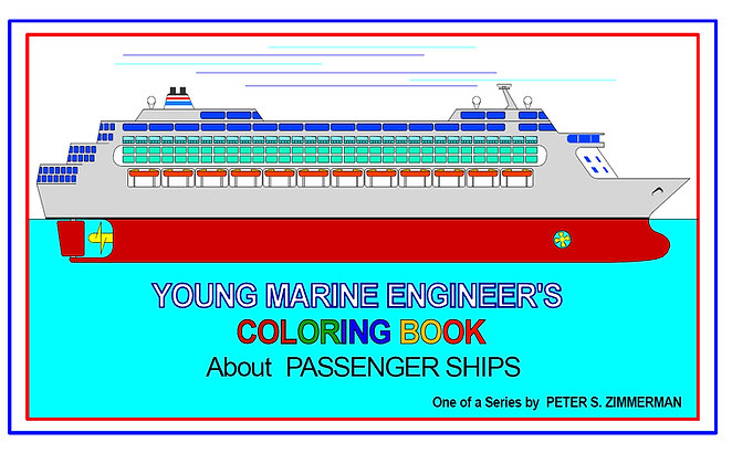 Young Marine Engineer's Coloring Book by Artisan Peter Zimmerman