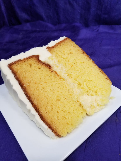 Lemon Sublime Cake Slice