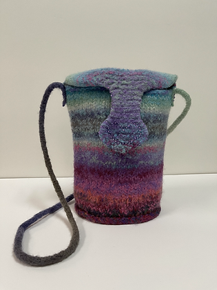 Colors of the Rainbow Hand Felted Purse