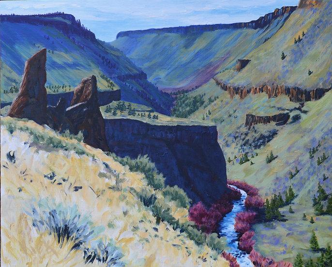 Autumn Day in The Deschutes Canyon