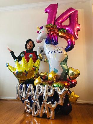 Unicorn Lover Balloon Sculpture - 016