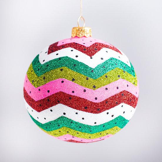"#2127 - Thomas Glenn ""Watermelon"" Ball Christmas Ornament"