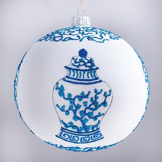 "#2190 - Thomas Glenn ""Porcelain"" Ball Christmas Ornament"