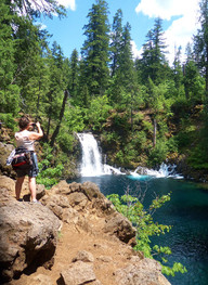 Photographing Blue Pools - Oregon