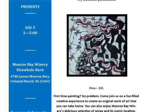 A Brush with Wine/ New Wave, Stars, and Stripes, July 3, 2021
