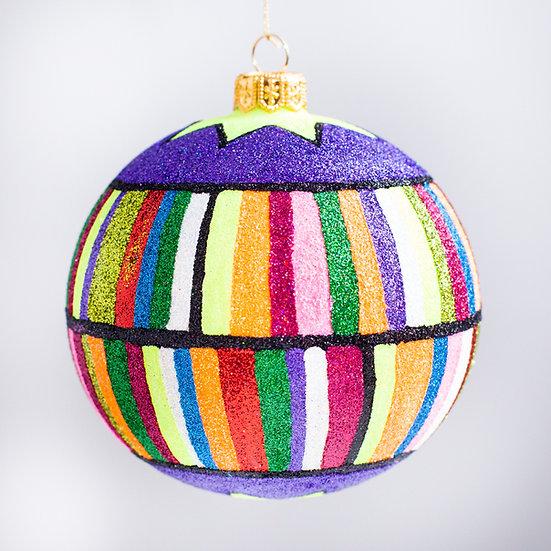 """#2173 - Thomas Glenn """"Circus Time"""" Ball Christmas Ornament"""