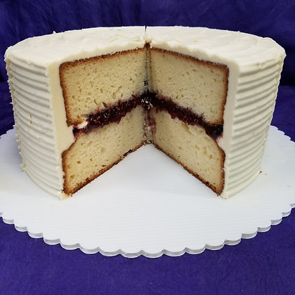 Vanilla Razz Cake 6in