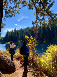Photographing at Clear Lake - Oregon