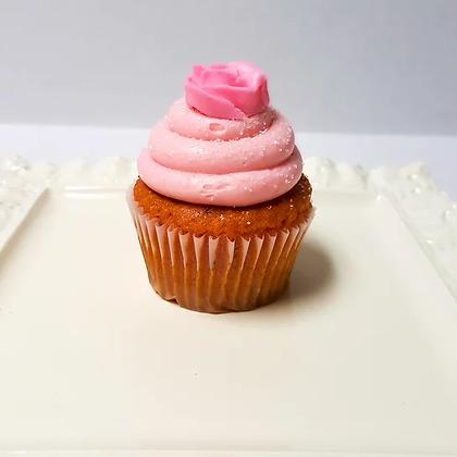 Pink Strawberry Champagne Cupcake