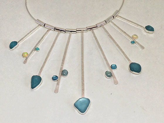 Icicles Seaglass Necklace
