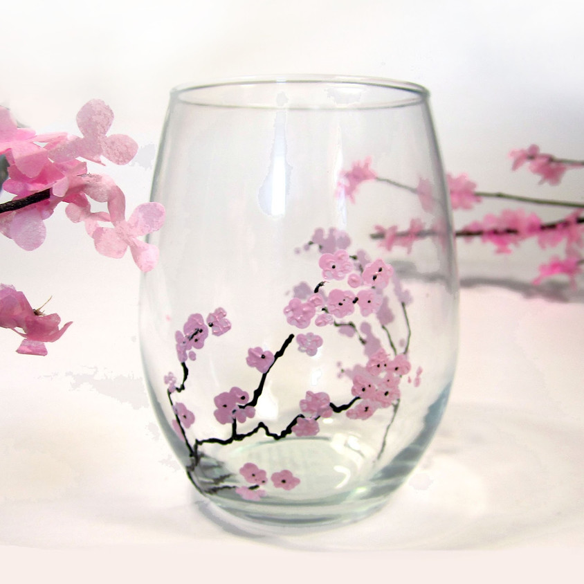 A Brush with Wine/Cherry Blossoms