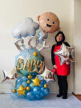 Baby Boy Balloon Sculpture