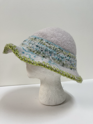 Spring is Here Hand Felted Wool Hat