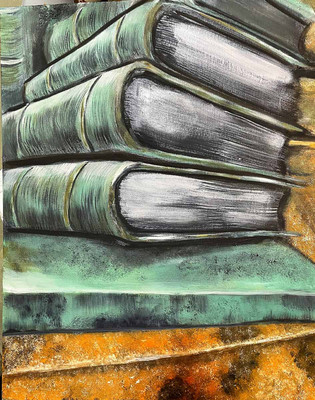 D.R.Taylor,Runeergs books,,oil,16x20,$30