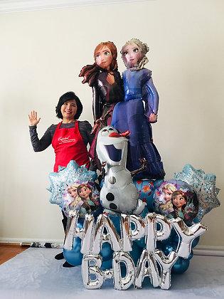 Frozen Happy Birthday Balloon Sculpture