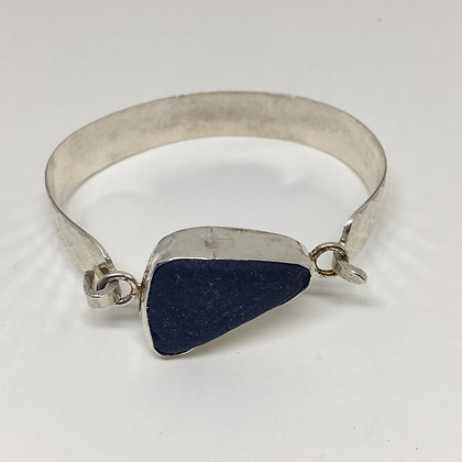 Smoky Blue Seaglass Cuff