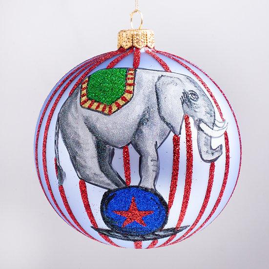 """#2175 - Thomas Glenn """"Circus Time"""" Ball Christmas Ornament"""
