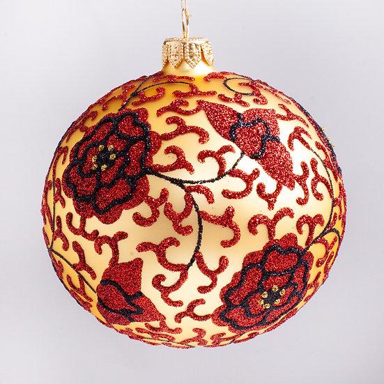 "#1961GD - Thomas Glenn ""Ginger Jar - Gold"" Ball Christmas Ornament"