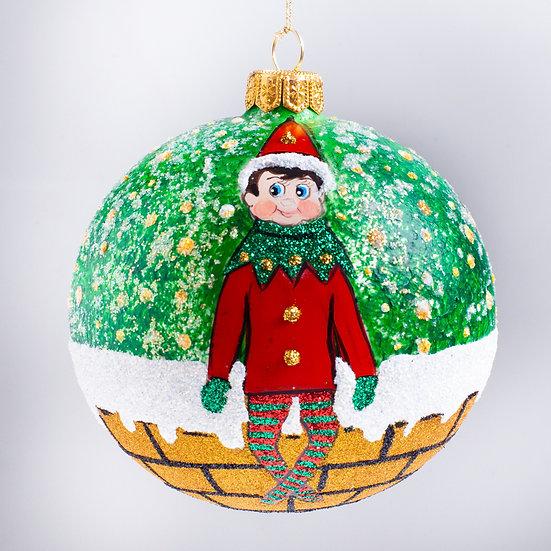 "#2179 - Thomas Glenn ""Bright Eyes"" Ball Christmas Ornament"