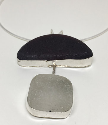 Art Deco Seaglass Necklace