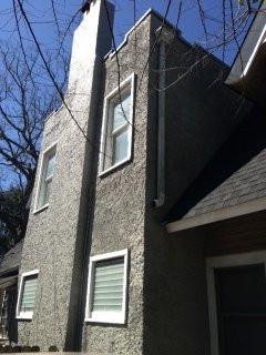 108 yr old stucco chimney