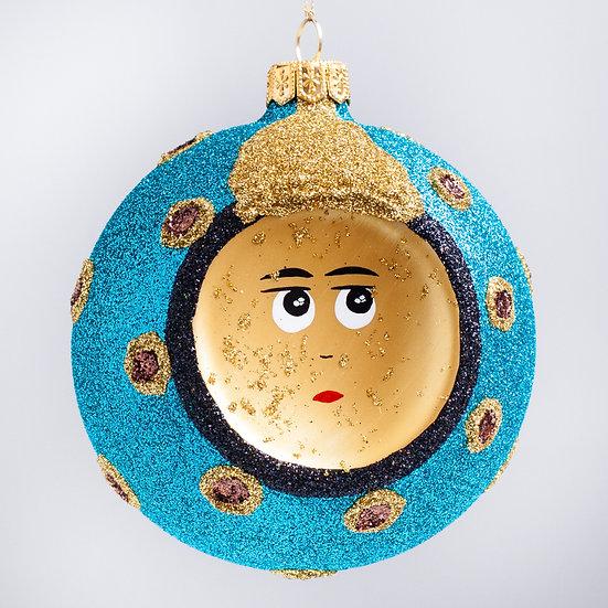"#2126 - Thomas Glenn ""Man in the Moon"" Ball Christmas Ornament"